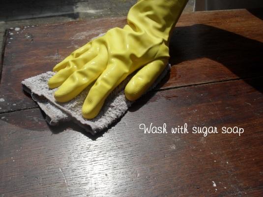 Wash with sugar soap